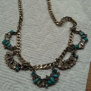 Rhinestone and turquoise necklace